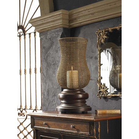 Uttermost Distressed Chestnut Brown Rickma Candleholder