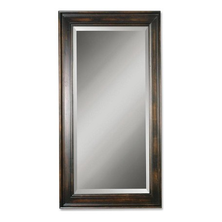 Uttermost B Distressed Black Palmer Beveled Mirror