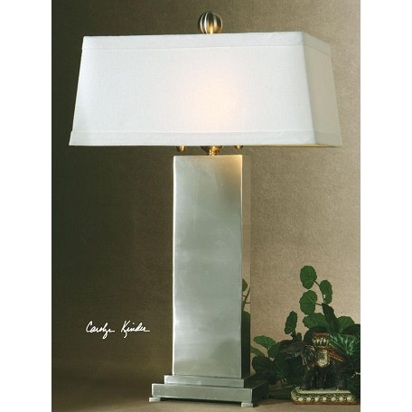 Uttermost Satin Nickel Metal Metal Contempo Table Lamp