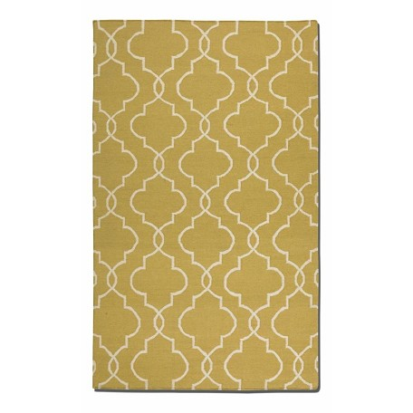 Uttermost Gold 8 X 10 Devonshire Flat Weave Wool Rug