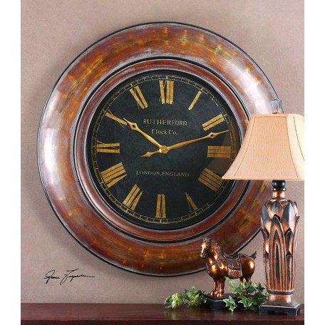 Uttermost Distressed Walnut Brown Finishâ Clock