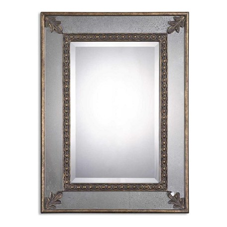 Uttermost B Antique Gold Leaf Michelina Mirror