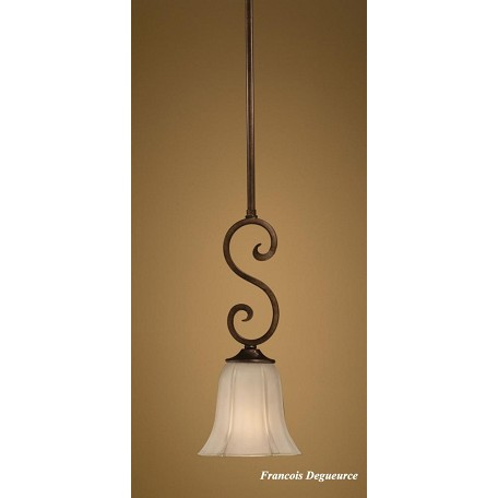 Uttermost Oil Rubbed Bronze Single Light Mini Pendant From The Lyon Bronze Collection