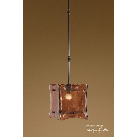 Uttermost Toffee Art Glass Single Light Mini Pendant From Vetraio Ii Collection