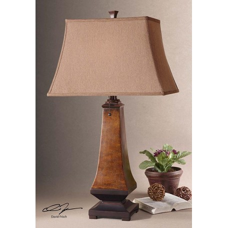 Uttermost Lamp With Rectangle Bell Shade From The Caldaro Collection