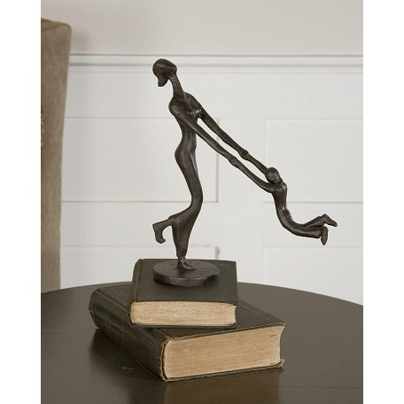 Uttermost Distressed Chestnut Brown At Play Sculpture