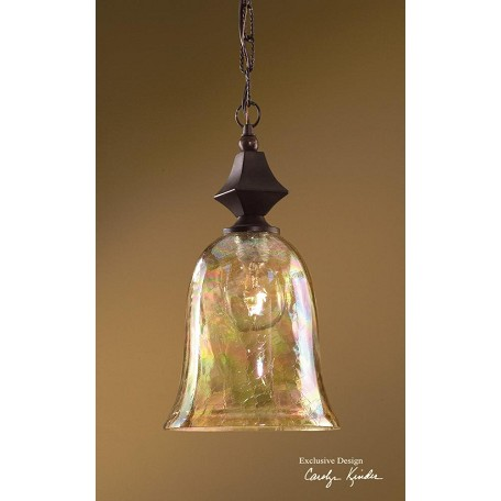 Uttermost Distressed Spice Traditional 1 Light Mini Pendant From The Elba Collection