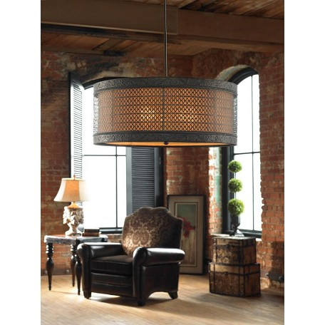 Uttermost Matte Black 3 Light Hanging Shade From The New Orleans Collection