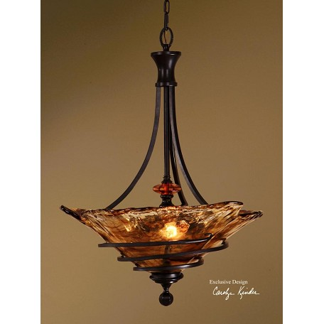 Uttermost Oil Rubbed Bronze 3 Light Bowl Pendant From The Vitalia Collection