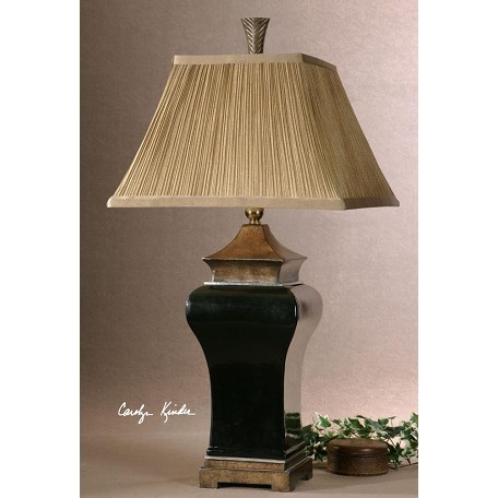 Uttermost Ebony Glaze With Sand Stone Accents Delmar Table Lamp