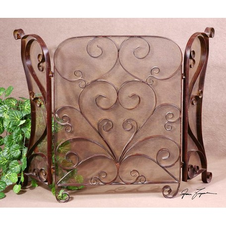 Uttermost Hand Forged Metal Fireplace Screen