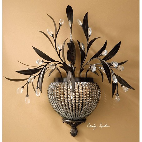 Uttermost Golden Bronze 2 Light Wall Sconce From The Cristal De Lisbon Collection