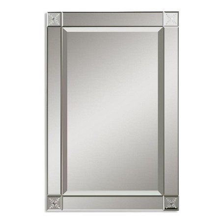 Uttermost B Etched Beveled Glass Emberlynn Frameless Mirror
