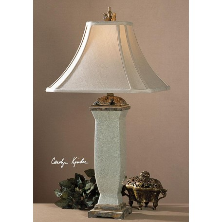 Uttermost Light Blue Gray Wash Reynosa Table Lamp