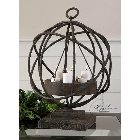 Uttermost Natural Wood Sammy Candleholder