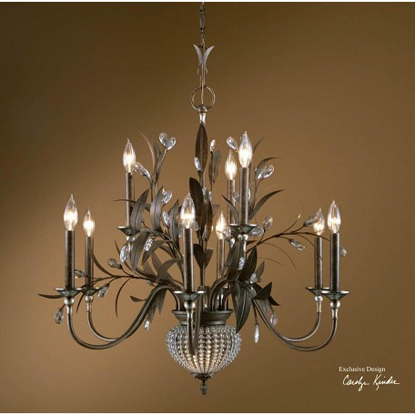 Uttermost 9 Light 2 Tier Chandelier From The Cristal De Lisbon Collection