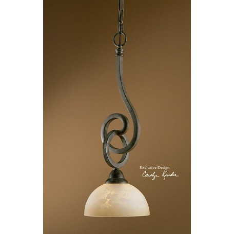 Uttermost Distressed Chestnut Brown 1 Light Mini Pendant From The Legato Collection