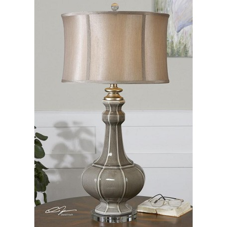Uttermost Crackled Gray Racimo Table Lamp