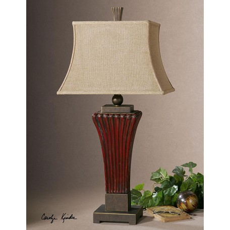 Uttermost Red Rosso 1 Light Table Lamp