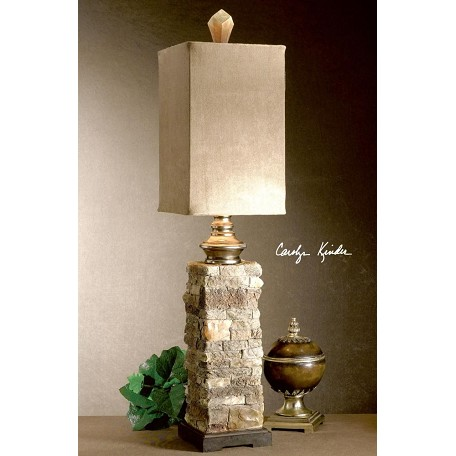 Uttermost Ivory And Brown With Cast Aluminum Accents Andean Buffet Lamp