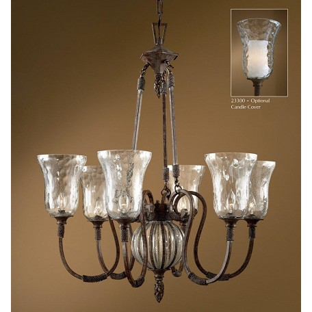 Uttermost Antique Saddle 6 Light Single Tier Chandelier Fro The Galeana Collection