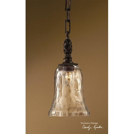 Uttermost Antique Saddle Galeana 1 Light Mini Pendant