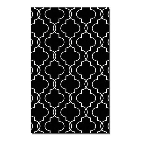 Uttermost Black 8 -Feet X 10 -Feet Area Rug