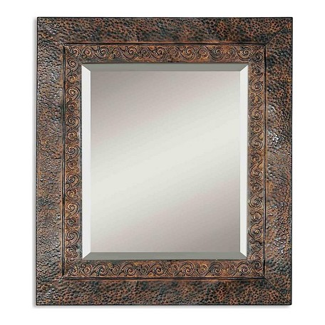 Uttermost B Brown Finish With Rust And Black Jackson Rustic Metal Mirror