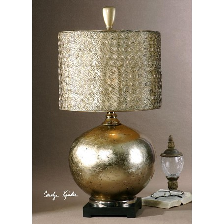 Uttermost Glass Body With An Antiqued Silver Leaf Finish On The Inside Julian Table Lamp