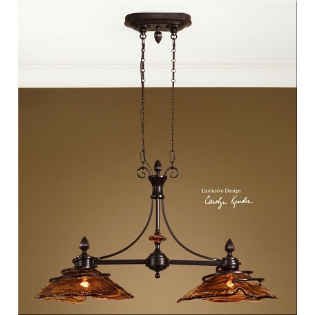 Uttermost Oil Rubbed Bronze 2 Light Kitchen Island Fixture From The Vitalia Collection