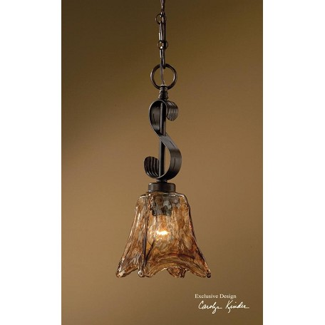 Uttermost Oil Rubbed Bronze Vetraio 1 Light Indoor Mini Pendant