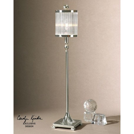 Uttermost Silver Plated Metal Cordelia Buffet Lamp Silver