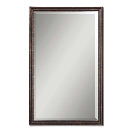 Uttermost Renzo Vanity Beveled Mirror With Distressed Bronze Frame