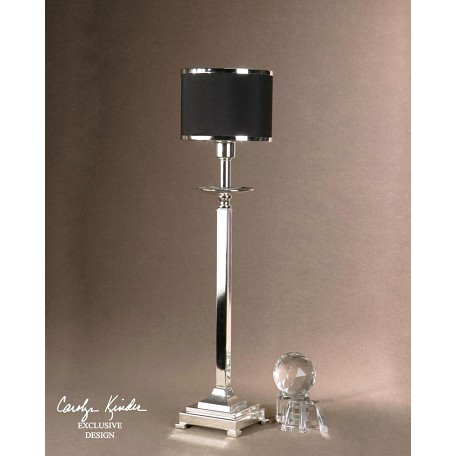 Uttermost Silver Plated Metal Tuxedo Buffet Lamp