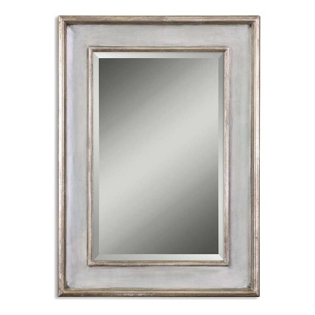Uttermost B Sky Blue Over Ivory Ogden Blue Wood Frame Mirror