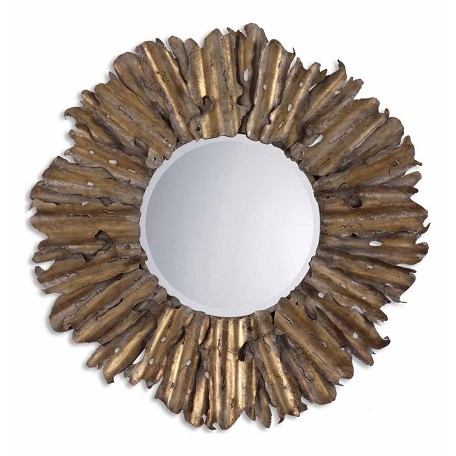 Uttermost B Antique Gold Leaf Hemani Mirror