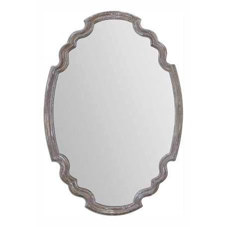 Uttermost Wood Ludovica 24.125In.W X 34.875In.H Oval Wall Mirror