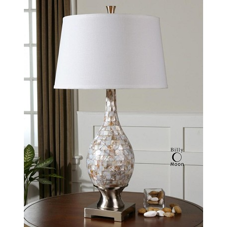 Uttermost Mother Of Pearl Madre 1 Light Table Lamp