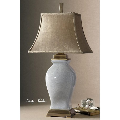 Uttermost Rory Blue With Bronzed Metal Detail Rory Blue Table Lamp
