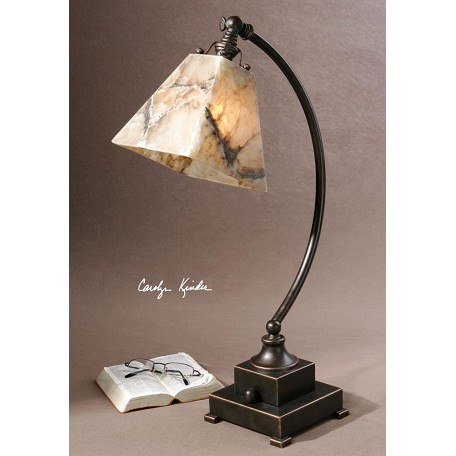 Uttermost Marble With Oil Rubbed Bronze Metal Detail Marius Task Lamp