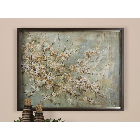 Uttermost Tree Blossom Depiction Art Piece From The Blossom Melody Collection