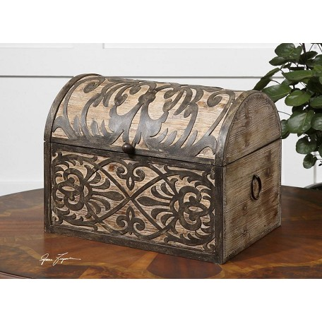 Uttermost Rustic Wood Abelardo Decorative Box