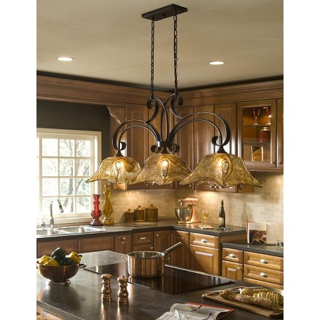 Uttermost Oil Rubbed Bronze Vetraio 3 Light Linear Chandelier