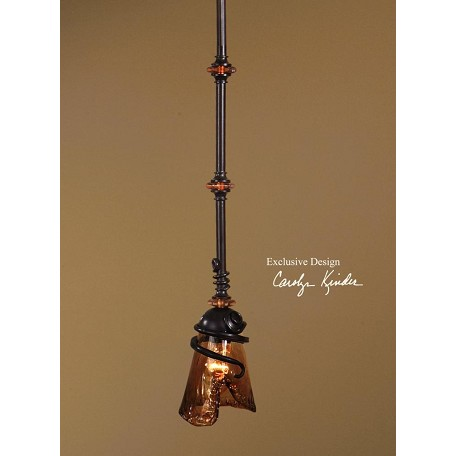 Uttermost Classsic Single Light Mini Pendant From The Vitalia Collection