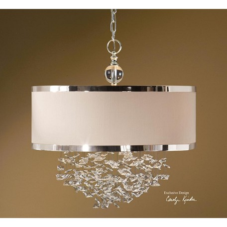 Uttermost Silver 3 Light Foyer Pendant From The Fascination Collection