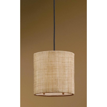 Uttermost Antiqued Burlap Weave Dafina 1 Light Drum Shaped Indoor Mini Pendant