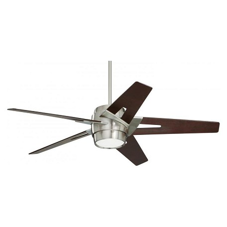 Emerson Fans Brushed Steel Luxe Eco 54in. 5 Blade Ceiling Fan - Blades and Light Kit Included