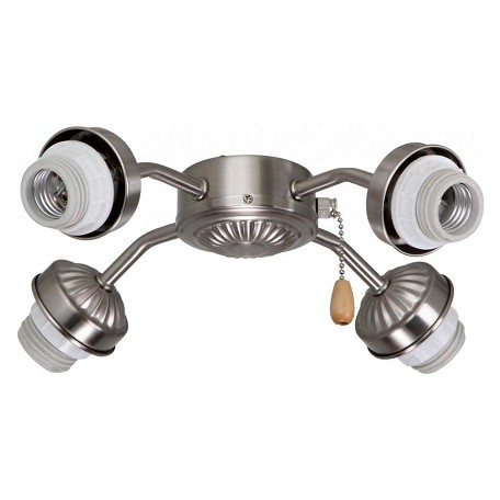 Emerson Fans Four Light Heavy Brushed Steel Fan Light Kit