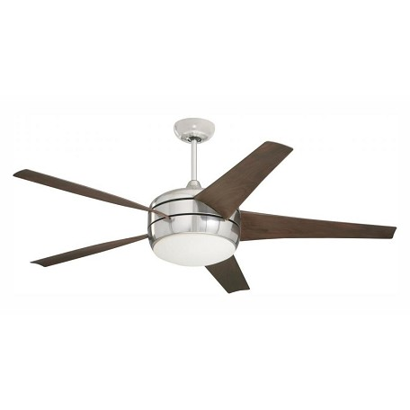 Emerson Fans Four Light Brushed Steel Ceiling Fan
