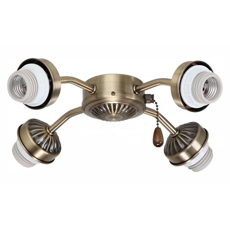 Emerson Fans Antique Brass 4 Light Arm Light Kit for Ceiling Fans